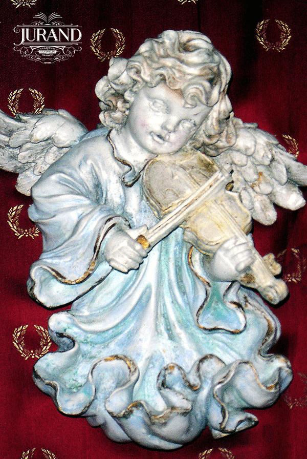 8503 Aniołek wiszący ze skrzypcami