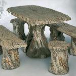 5503 Taboret drewno